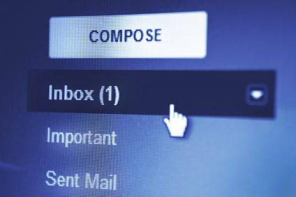 Screenshot of an email client inbox
