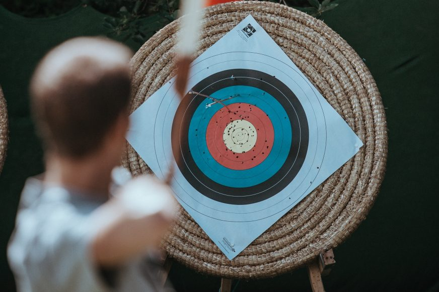 A man playing archery