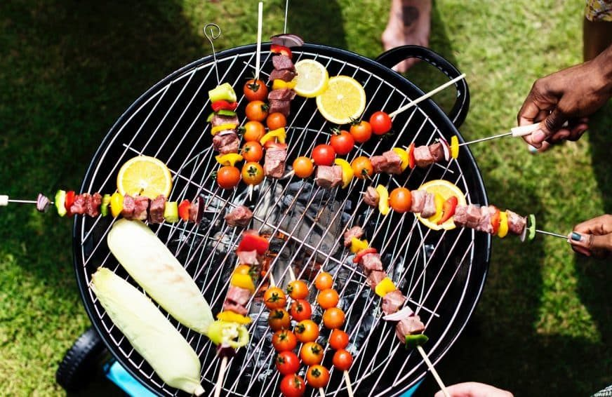 Barbecuing vegetables on a bank holiday