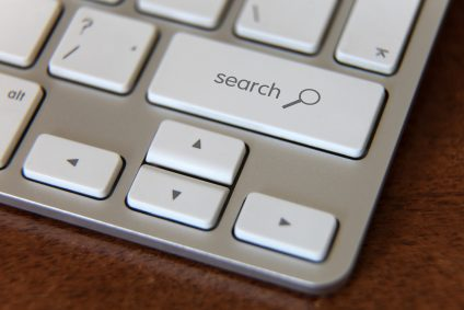 Search button on laptop