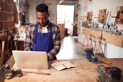 small business owner in workshop