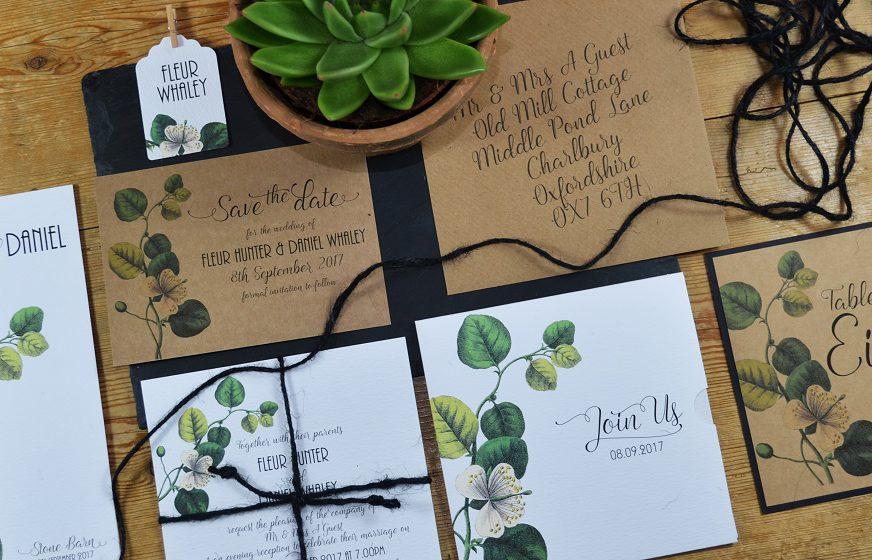 Decorative wedding stationary