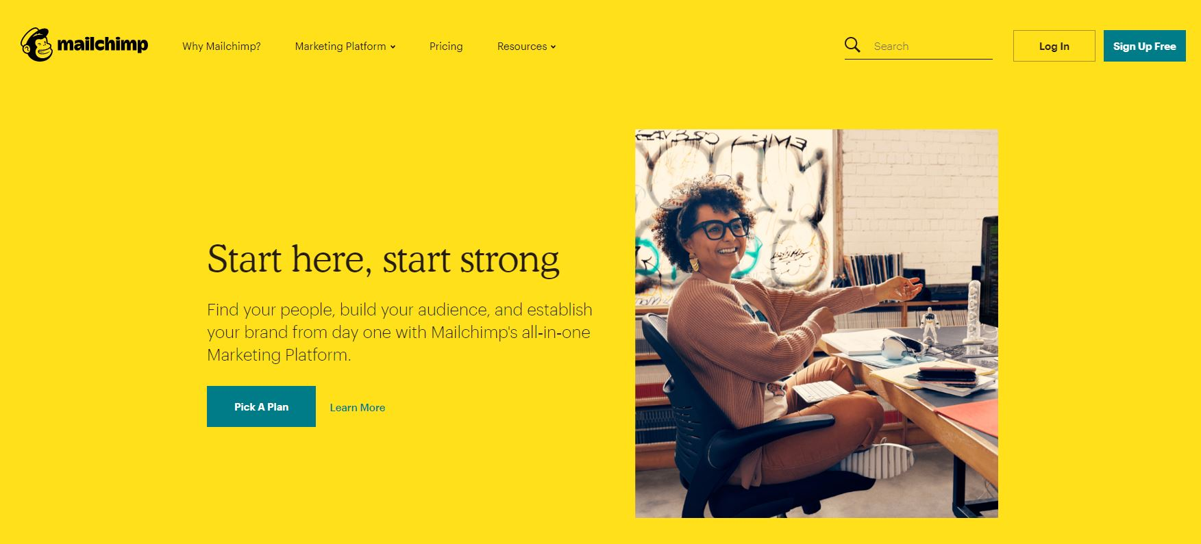 Mailchimp welcome screen