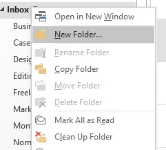 how to organise your inbox folders