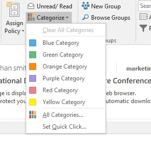how to organise your inbox categories