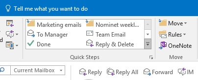 How to organise your inbox quick steps 2