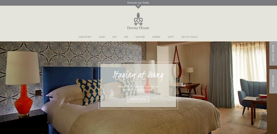 Dormy House website screenshot