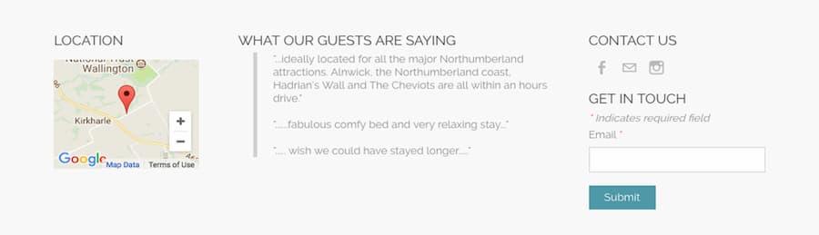 Shieldhall guest house website location screenshot