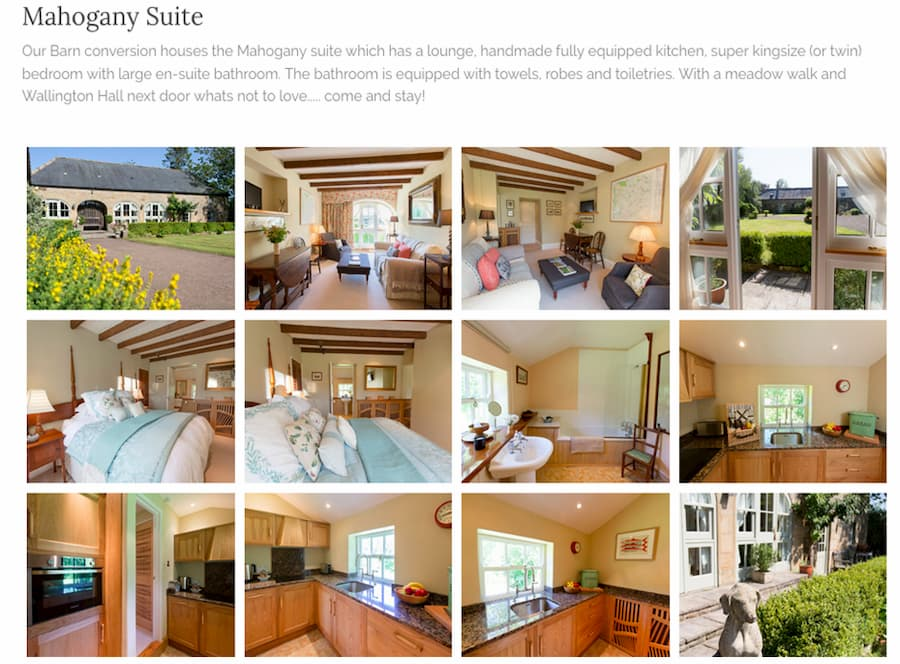 Shieldhall guest house website mahogany suite screenshot