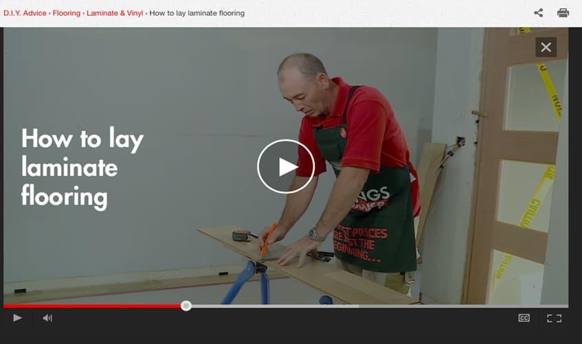 How to laminate flooring video