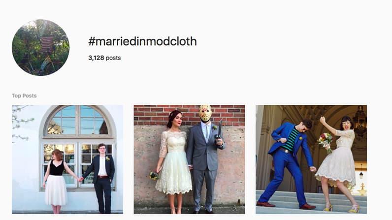 Married in mod cloth Instagram