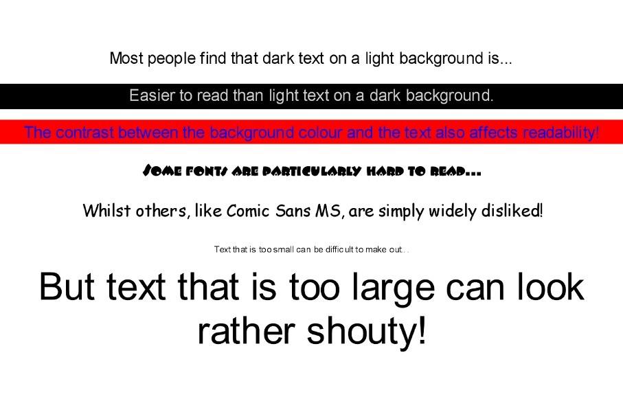 different website fonts
