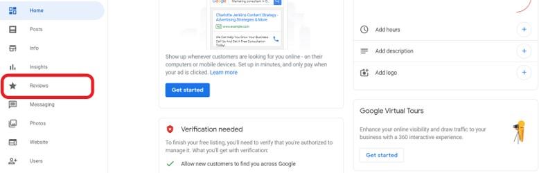 Google reviews dashboard