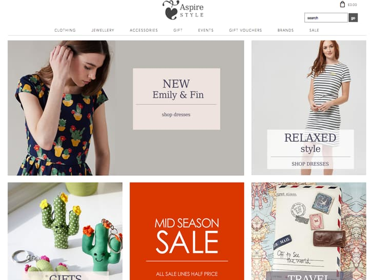 Aspire Style website screenshot