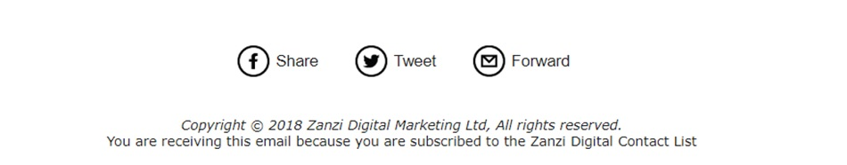 Email marketing footer