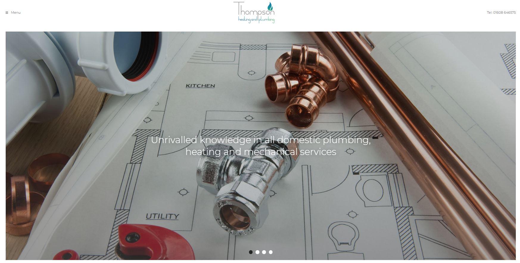 Thompson heating and plumbing website screenshot