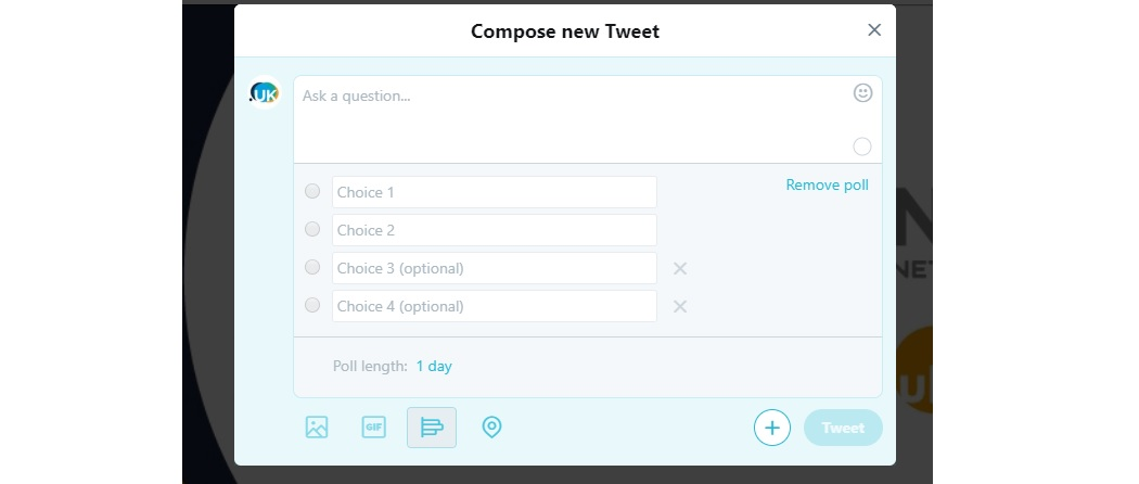 Creating a Twitter poll