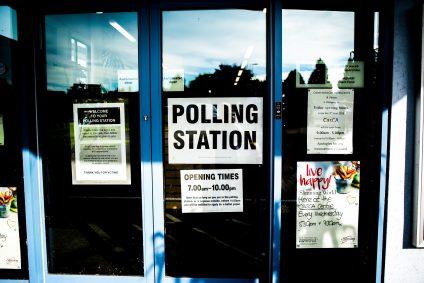 Social media polls polling station