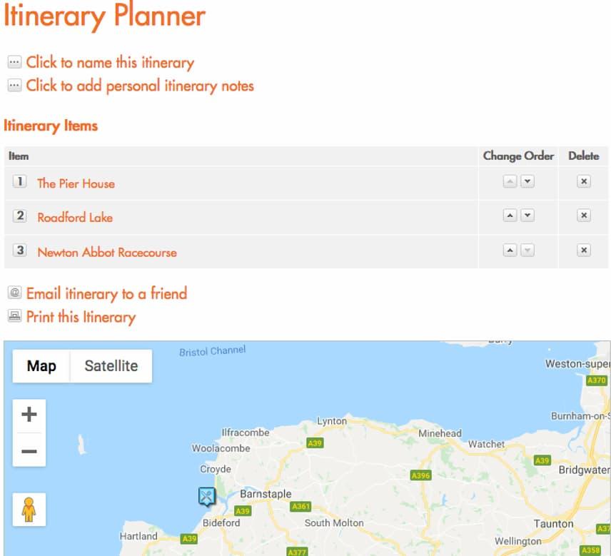 Visit Devon itinerary planner