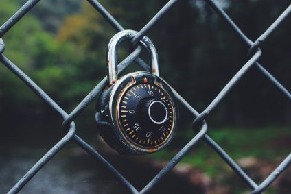 padlock on a gate