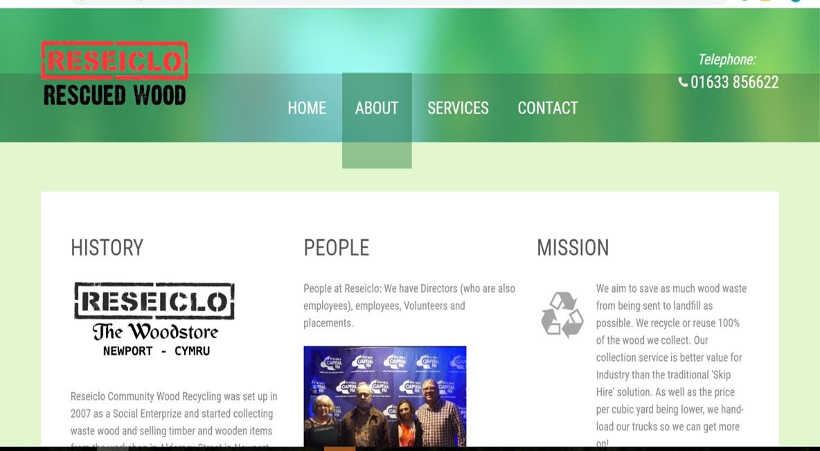 Reseiclo website screenshot