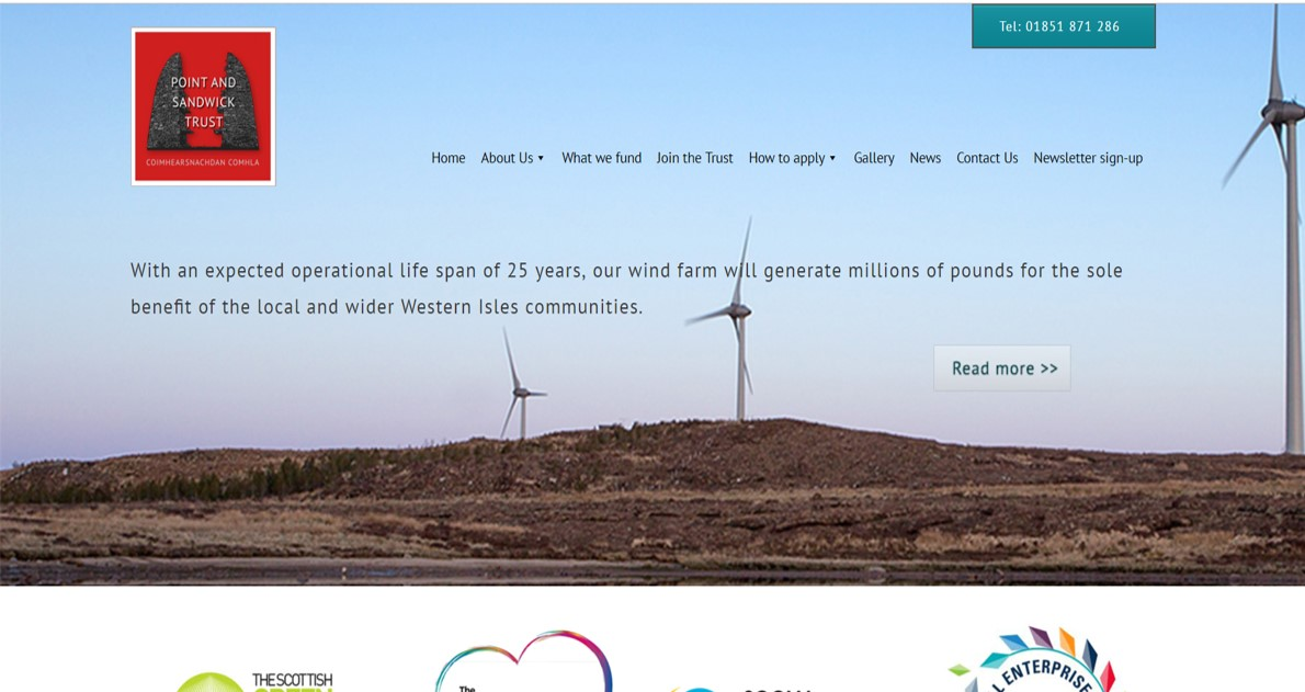 The Point and Sanwick Trust website