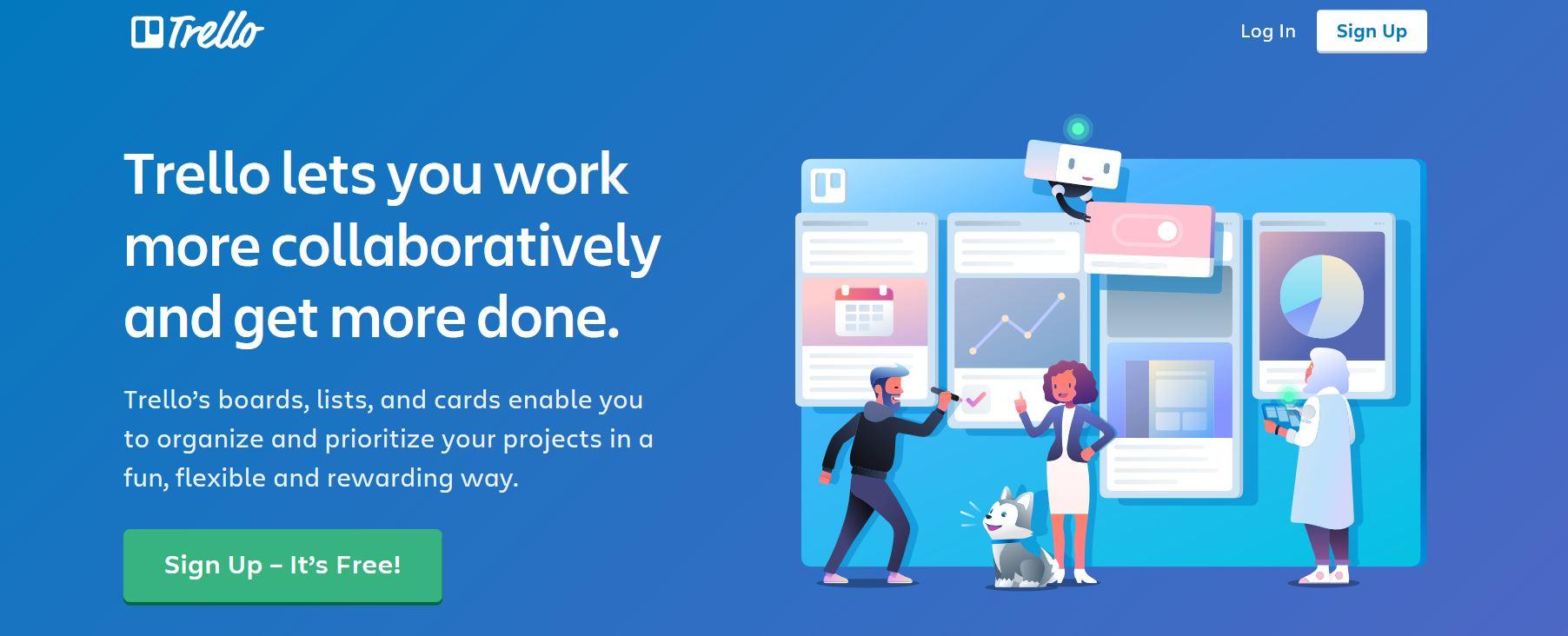Screenshot of Trello website