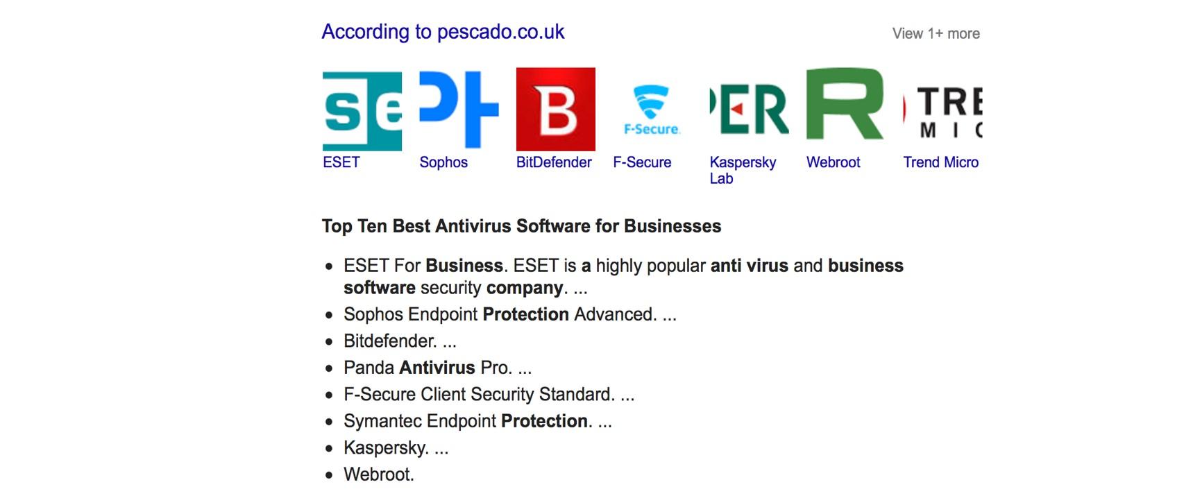 list of antivirus software