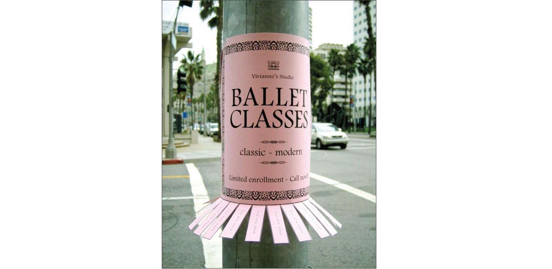 ballet poster in shape of 'tutu'