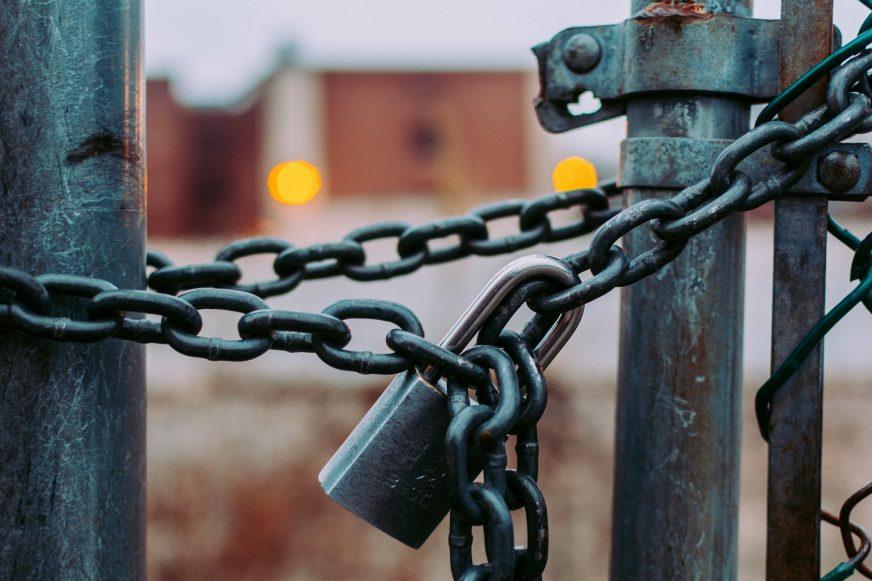 padlock on gate