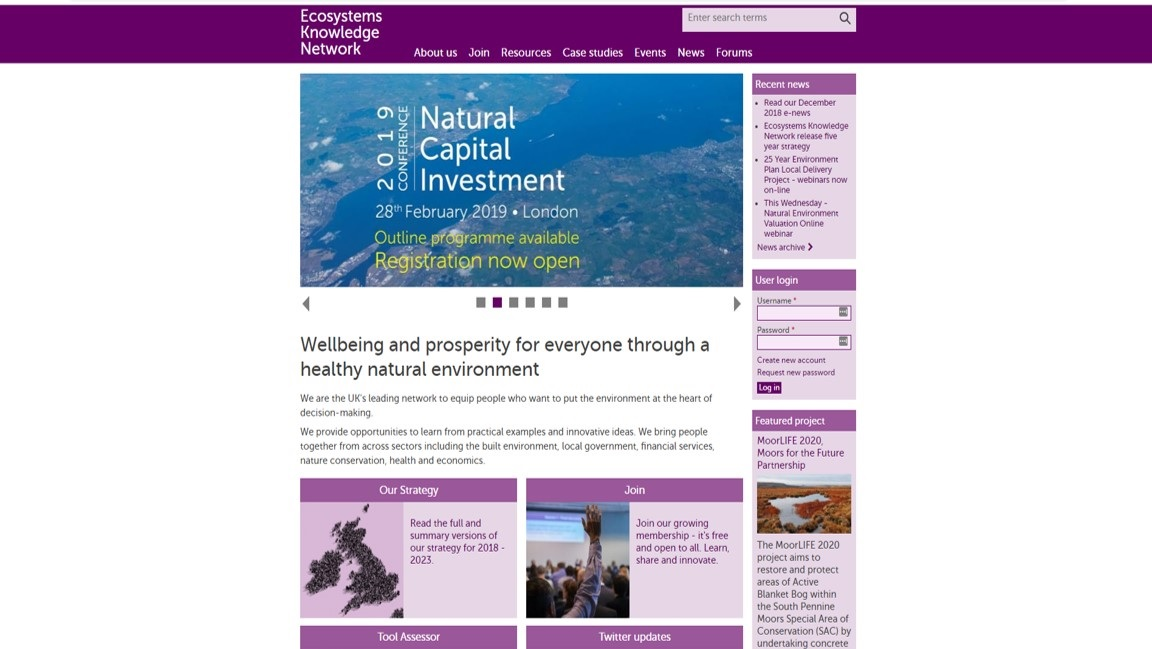 Ecosystems Knowledge Network website