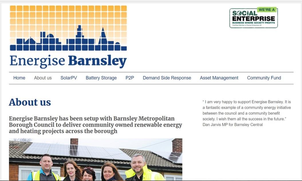 Energise Barnsley website