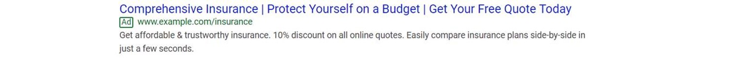 example of a Google ad
