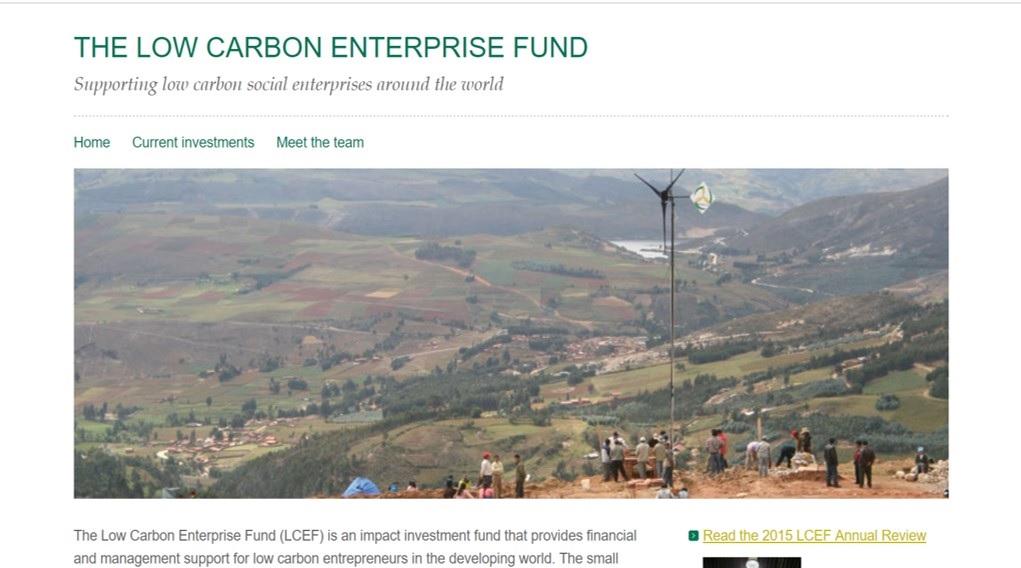 The Low Carbon Enterprise Fund website