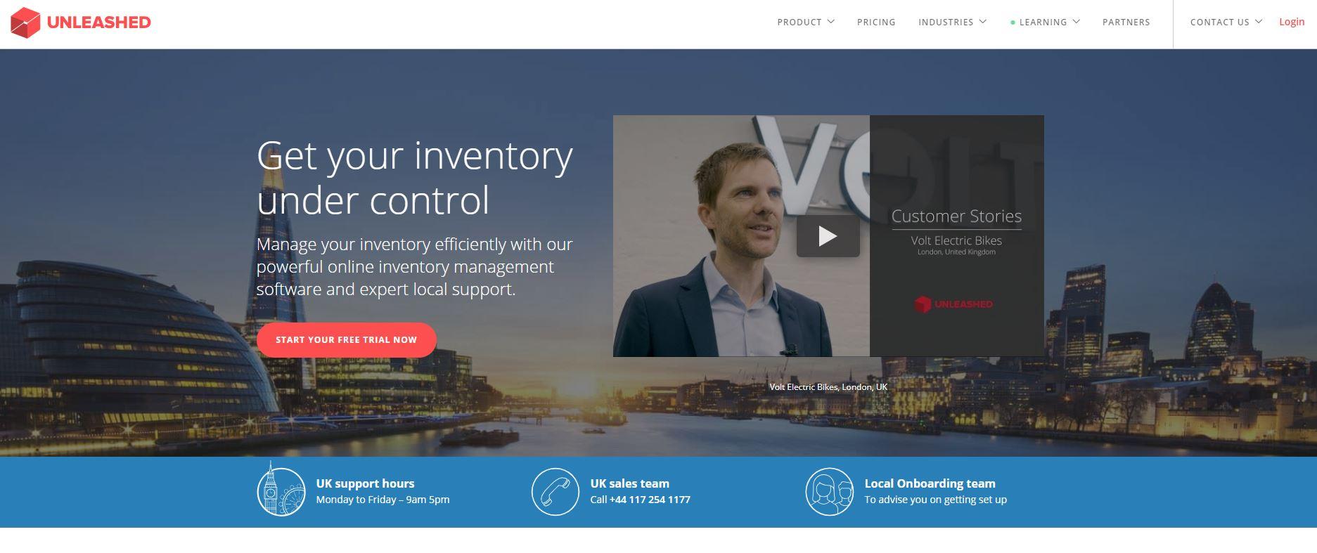 Unleashed website