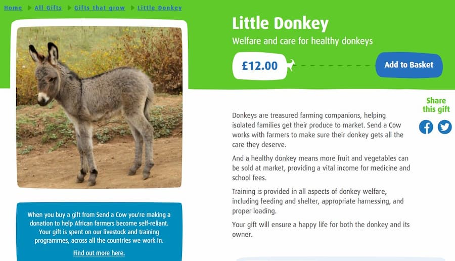 Send a Cow website screenshot