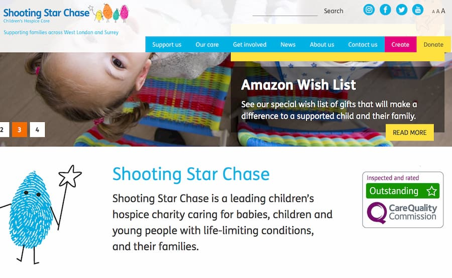 Shooting Star Chase website