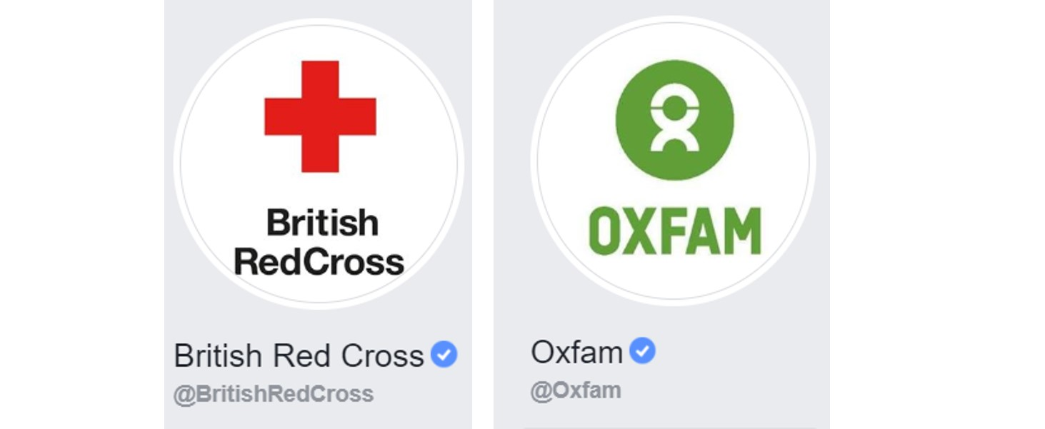 Charity profile pictures on Facebook