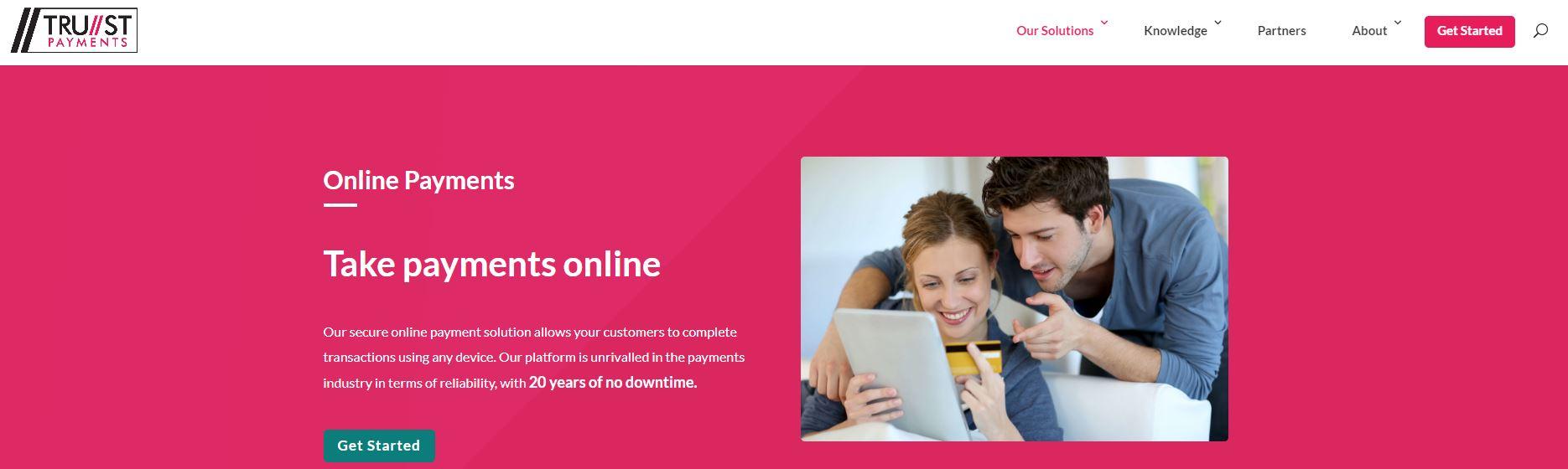 Trust Payments website