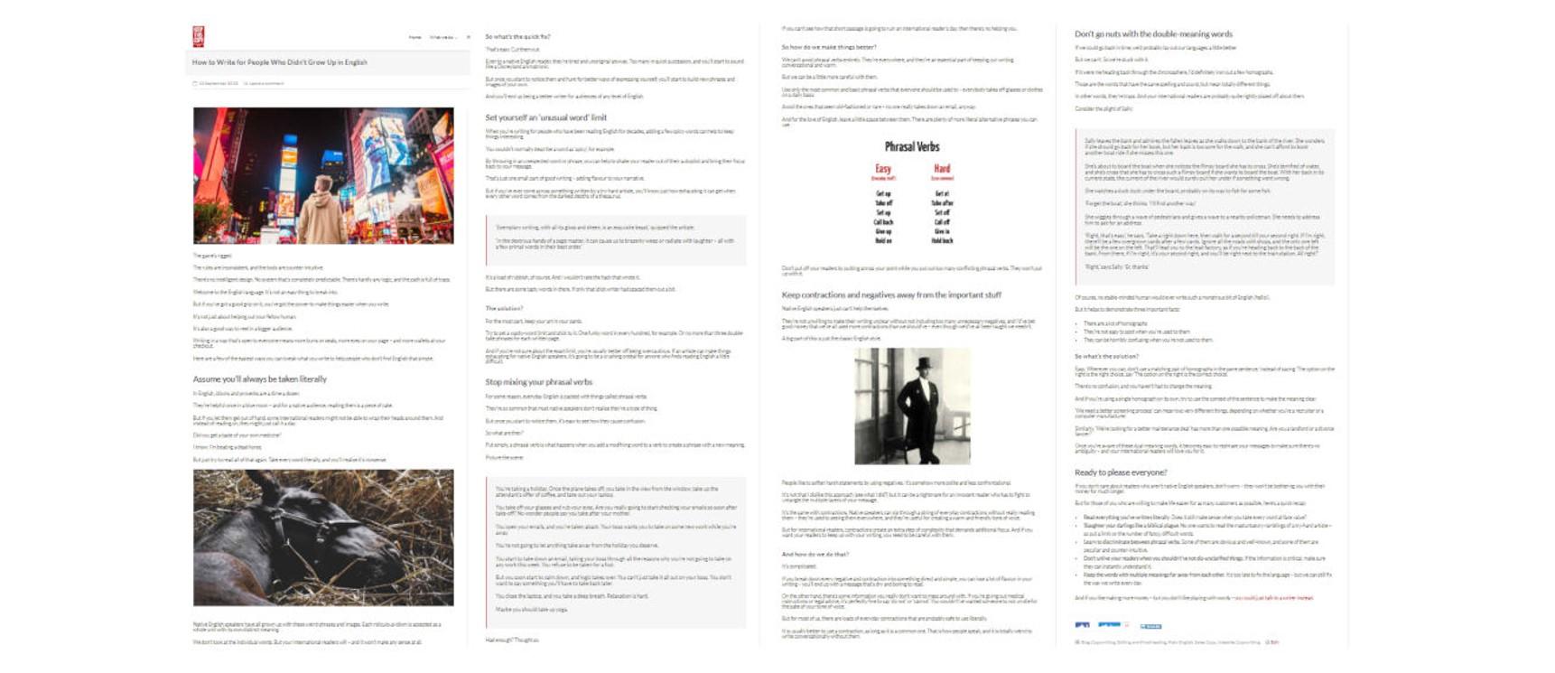blog layout screenshots
