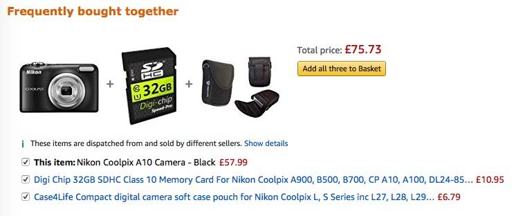 Product bundles on Amazon