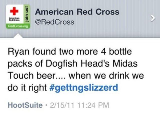 American Red Cross tweet