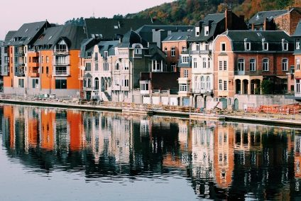 Houses overlooking water