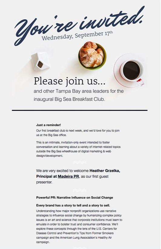 event email invitation