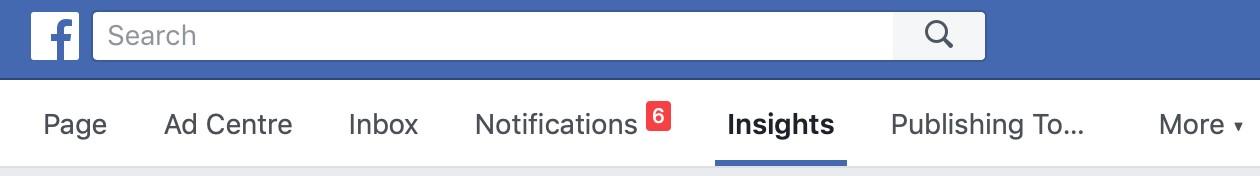 Facebook Insights Menu