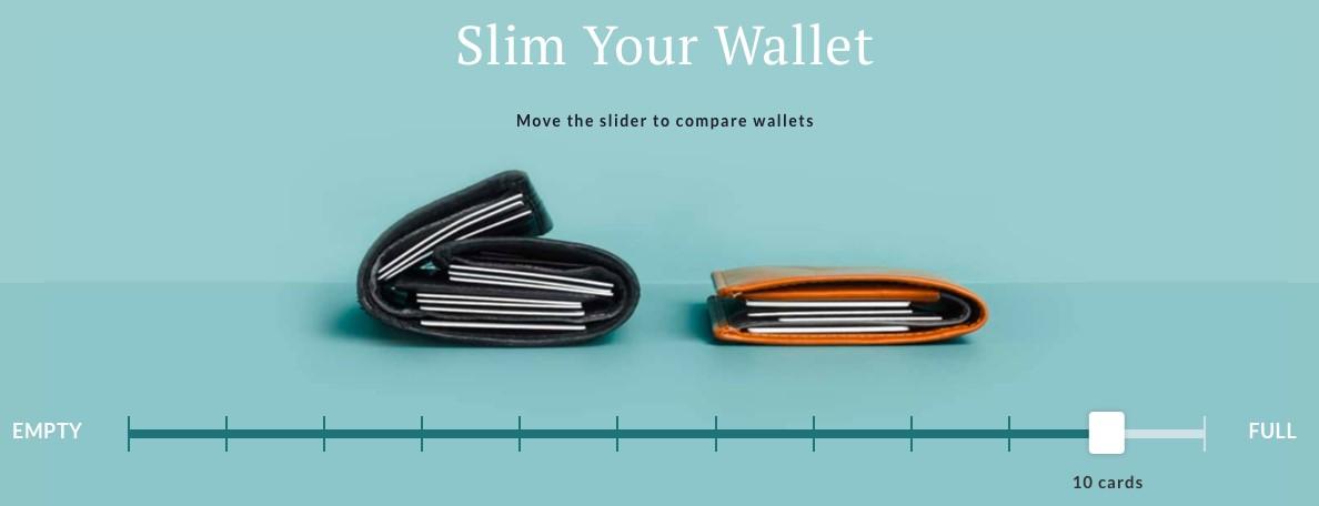 Bellroy's Wallet animation slider