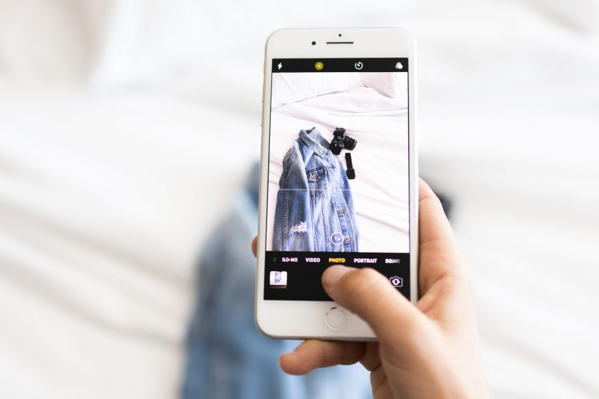 taking product photo on mobile phone