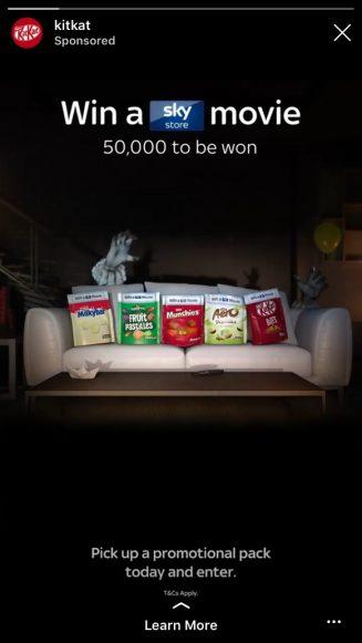 Instagram stories advertising