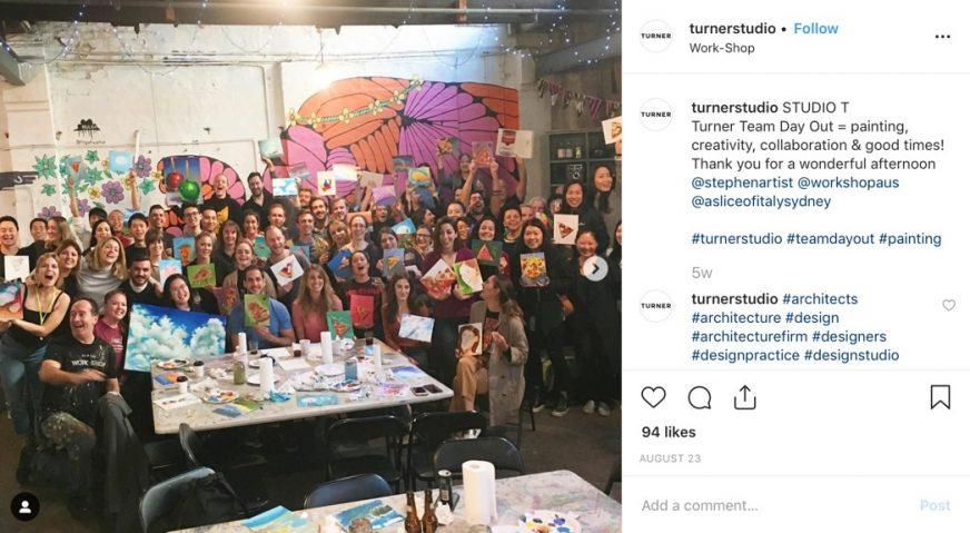 Turner Studio Instagram post