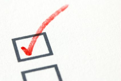red tick in checkbox